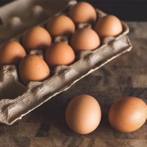 A dozen organic eggs from Hipwell Ranch Idaho